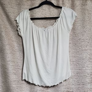 Forever 21+ White 90's Ruffle Style Crop Top